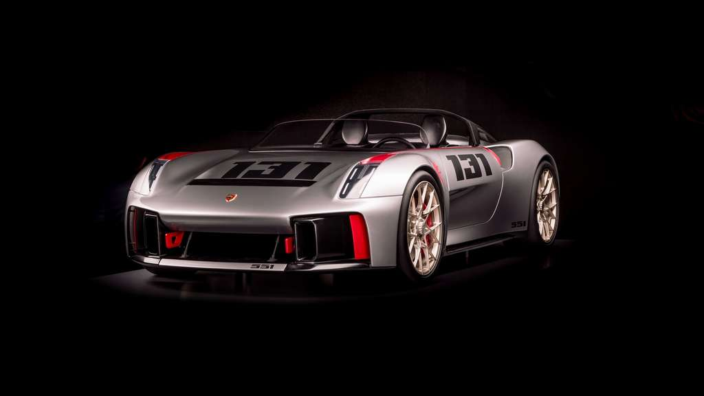 La Porsche Vision Spyder, réinterprétation de la mythique Porsche 550. © Porsche