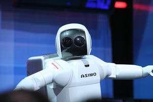 Asimo, le robot humanoïde de Honda. © Azadam, Honda