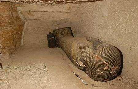 La tombe d'Iahmès (VI-Ve siècle avant J.-C.), caveau C. © Photos Christian Décamps / Mission archéologique du Louvre à Saqqara