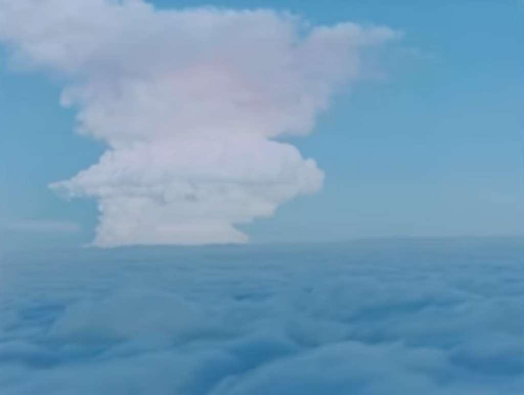 Une colonne de poussière et de fumée s'élève à 60-65 kilomètres d'altitude © Rosatom
