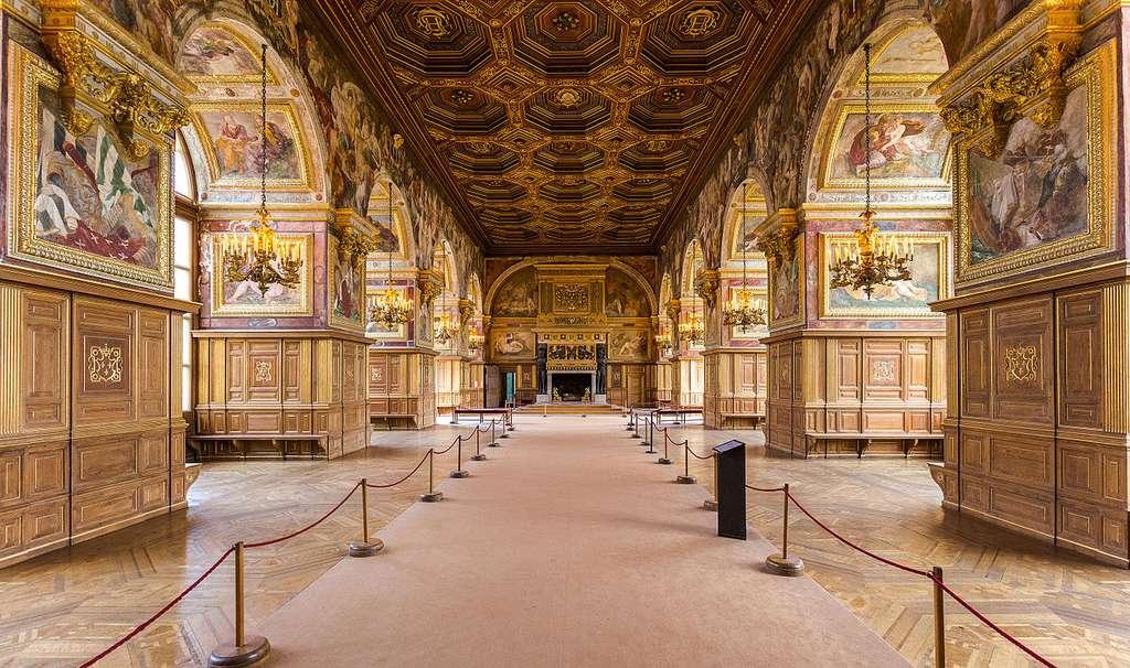 La salle de bal du château de Fontainebleau, en Seine-et-Marne (77). © Davidh820, CC by-sa 4.0