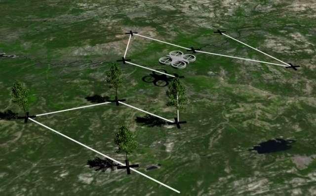 Le processus de plantation imaginé par BioCarbon Engeneering se déroulerait en deux étapes. La première consiste à utiliser un drone pour cartographier le terrain afin de définir un schéma de plantation. Ensuite, les drones-planteurs équipés de canon à air comprimé libèrent des graines germées en suivant automatiquement le parcours. © BioCarbon Engeneering
