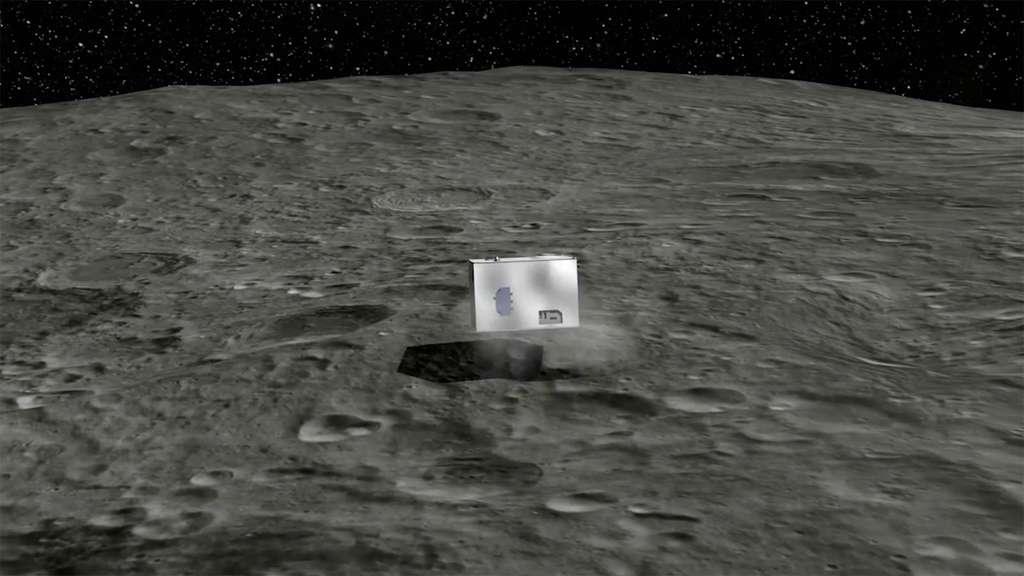 Avant de se stabiliser sur la surface de l'astéroïde, Mascot effectuera de nombreux rebonds. Sa durée de vie dépendra du fonctionnement de sa batterie estimée à quelque 12 heures. © Cnes