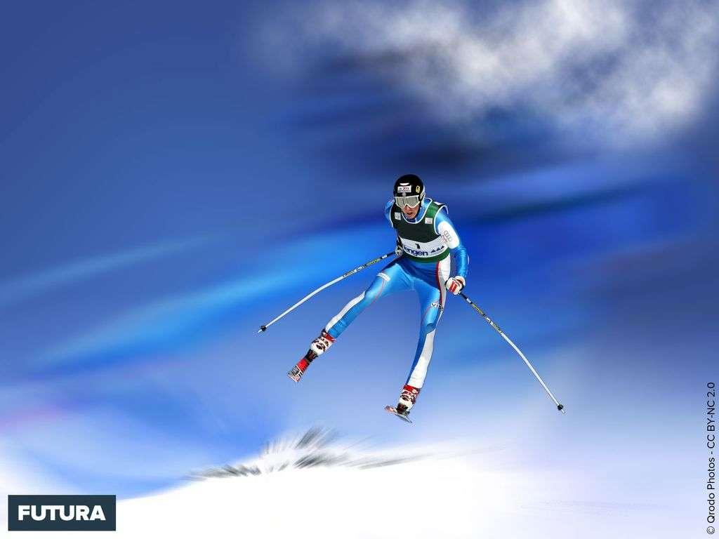 Skieur en action