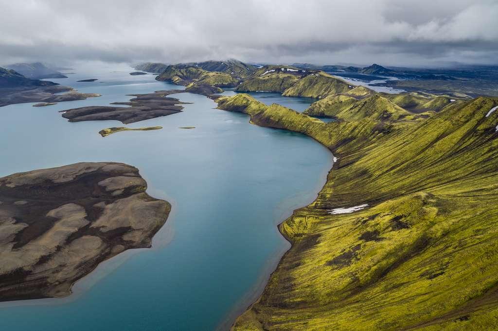 L'Islande vue du ciel : les lacs de Langisjór