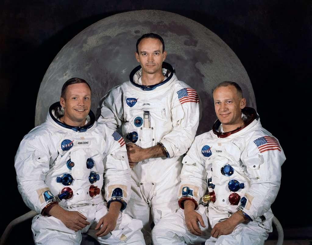 Buzz Aldrin, ici à droite, a connu la quarantaine à son retour de la Lune. © Nasa