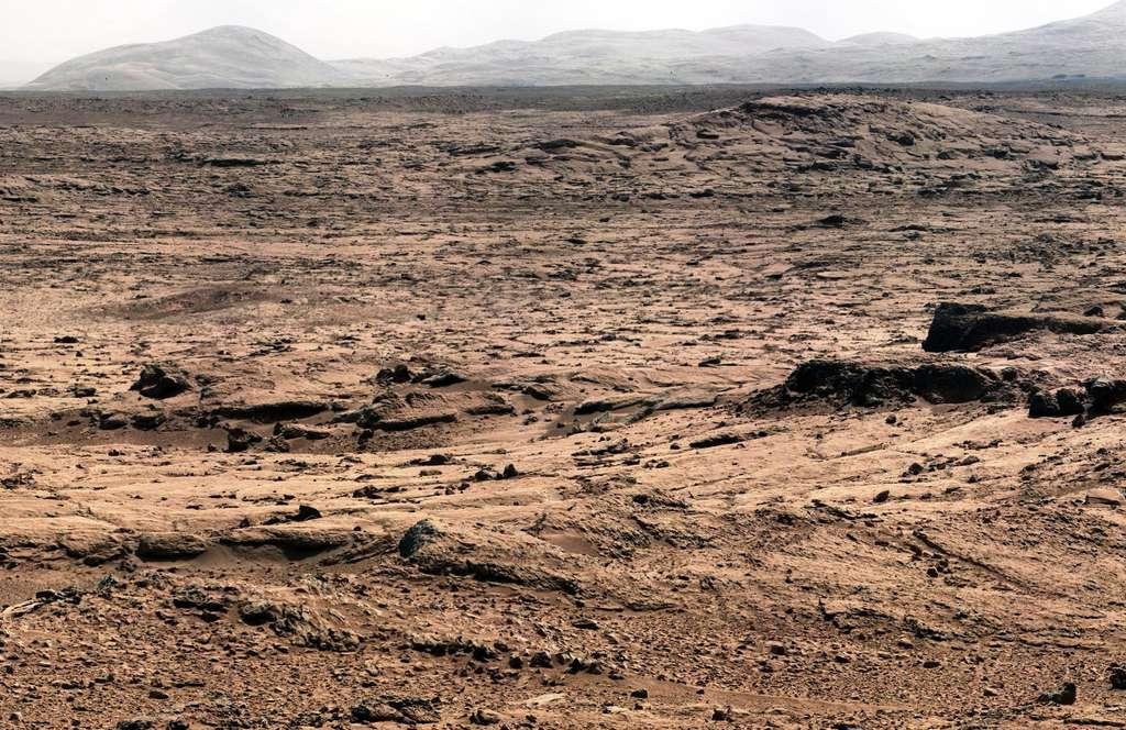 Une partie du panorama obtenu avec les instruments de Curiosity sur Mars. © Nasa-JPL
