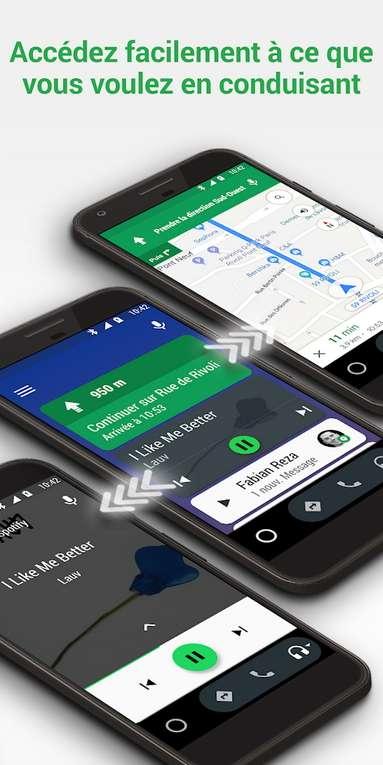 Android Auto vous permet de continuer à utiliser tranquillement et en toute sécurité vos applications préférées quand vous êtes au volant. © Google