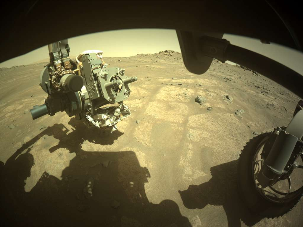 Perseverance durant le forage du 6 août 2021. © Nasa, JPL-Caltech