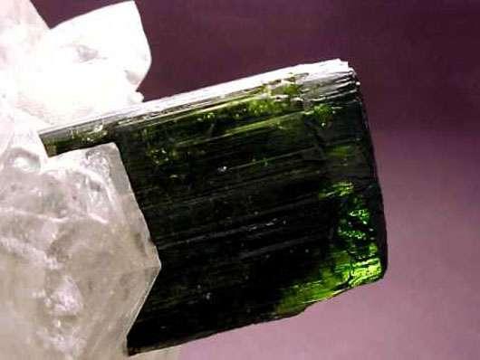 Tourmaline dans un quartz.