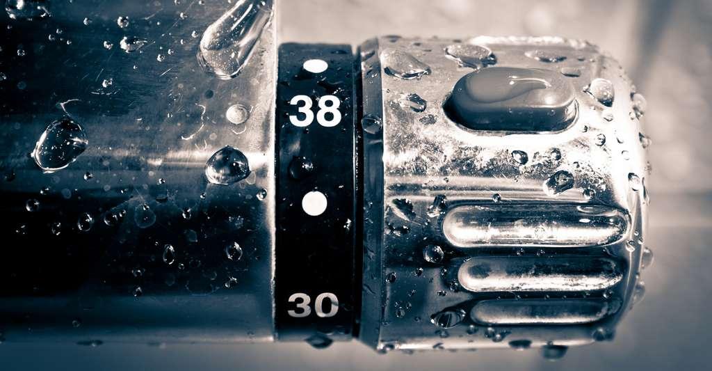 Grâce à un mitigeur thermostatique, vous économisez facilement cinq litres d'eau par douche. © Paipai, Fotolia