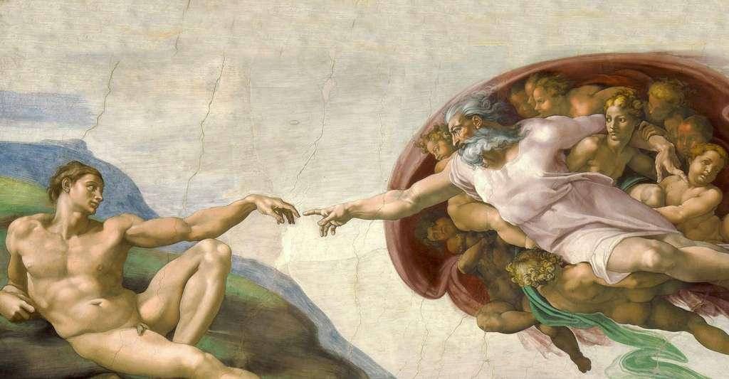 La Création d'Adam (par Michel-Ange). © 1a2b3c, Wikimedia commons, DP