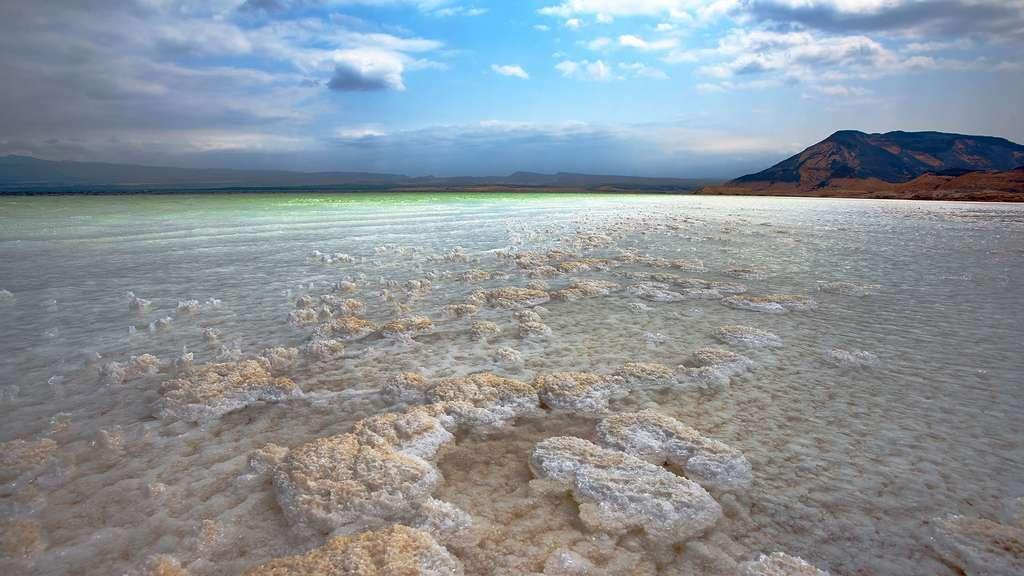 Un sel qui se dépose en perles sur les plages