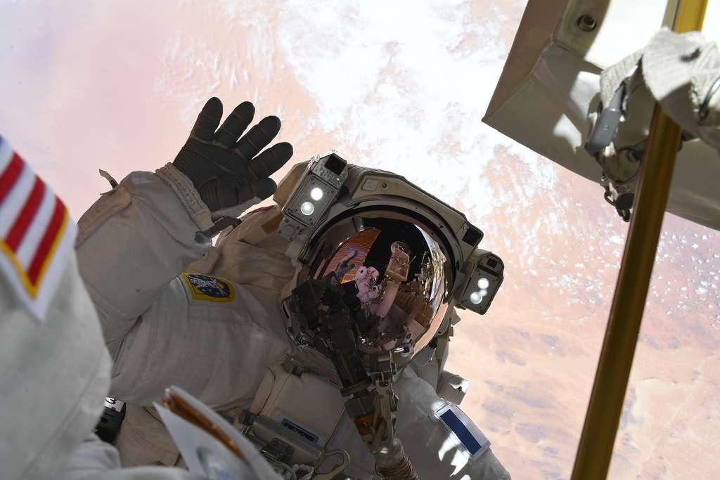 L'astronaute européen Thomas Pesquet lors de sa troisième sortie dans l'espace, le 25 juin 2021. © Nasa, ESA