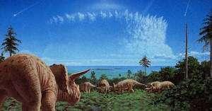Il y a 65 millions, la chute d'un astéroïde dans le Golfe du Mexique a engendré un cataclysme planétaire en accélérant la disparition des dinosaures et provoquant la disparition de 70% de toute vie terrestre.