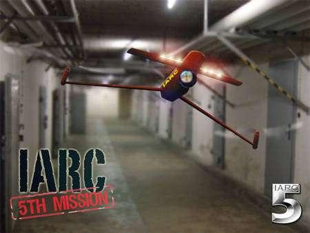 Des compétitions pour les robots volants sont organisées. Ici, l'affiche de la cinquième compétition de drones. La sixième s'est déroulée en août 2011. © IARC