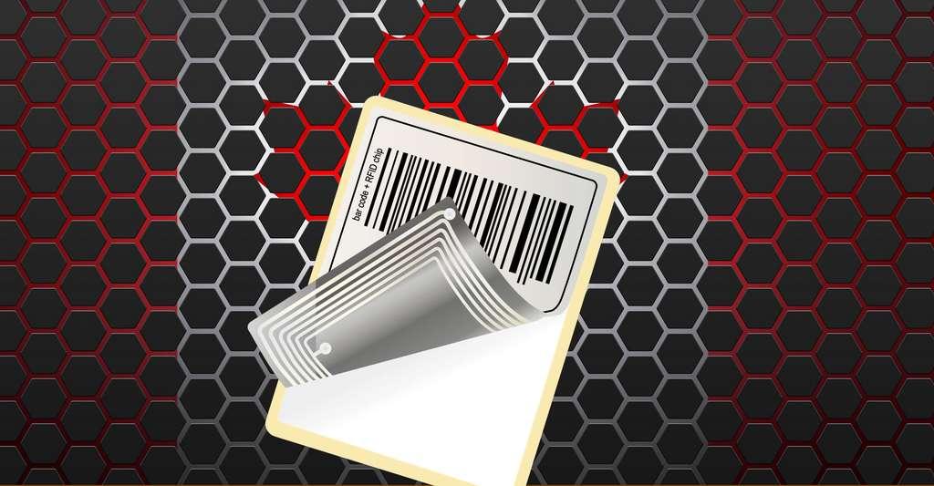 Exemple de code-barres à base de technologie RFID. © Mr.Zach, Shutterstock