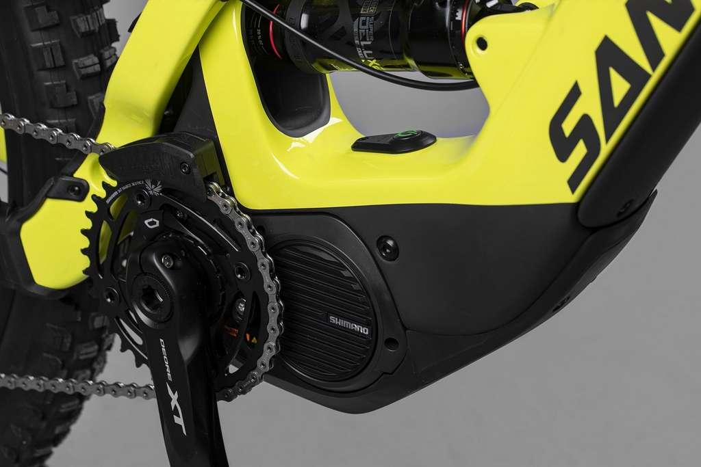 Santa Cruz a misé sur une valeur sûre avec le moteur Shimano E8000. © Santa Cruz Bicycles