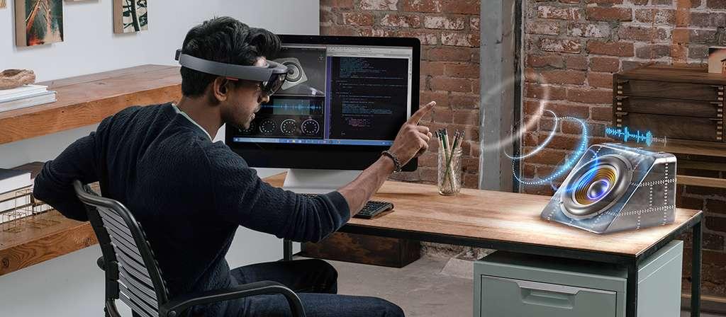 Hololens, l'ordinateur holographique de Microsoft. © Microsoft