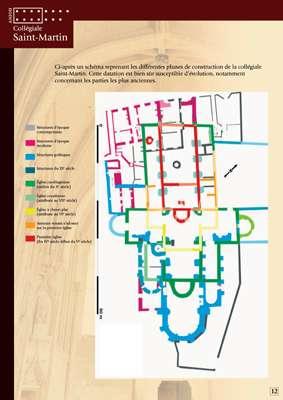 Phases de construction de la Collégiale Saint-Martin Angers.