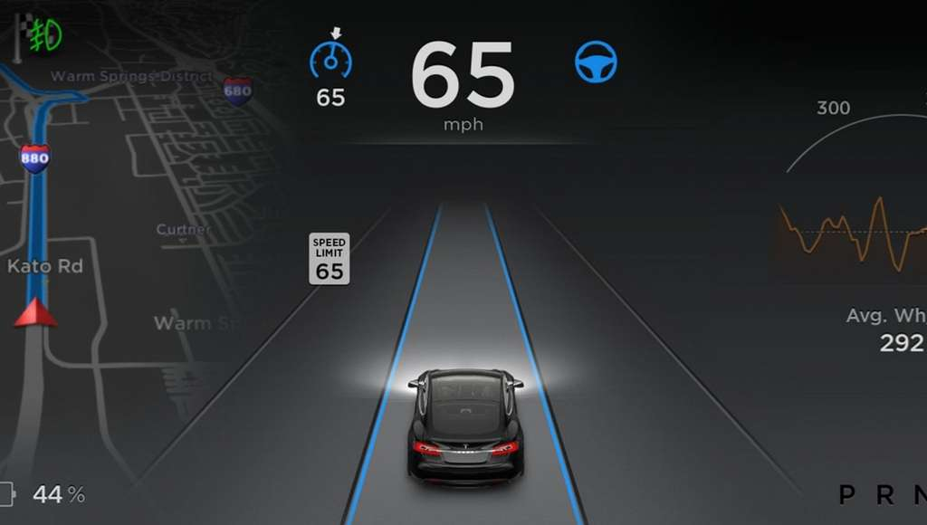 Tesla a toujours été clair quant au fait que son système Autopilot ne devait être utilisé que dans certaines circonstances propices et sous la vigilance constante du conducteur. © Tesla Motors