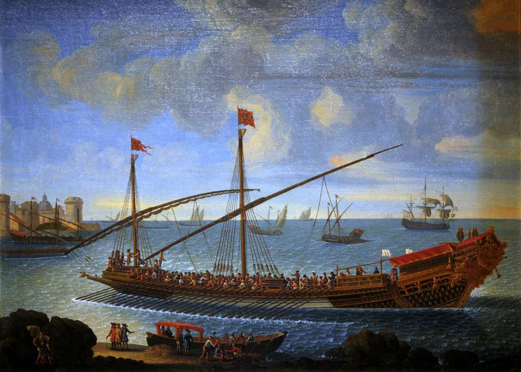Galère amirale la « Réale » construite en 1679, chargée de galériens ; auteur anonyme. Musée national de la Marine, Paris. © Wikimedia Commons, domaine public