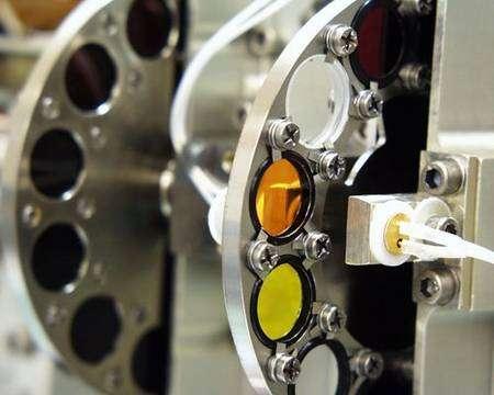La roue à filtres d'une des caméras de Phoenix