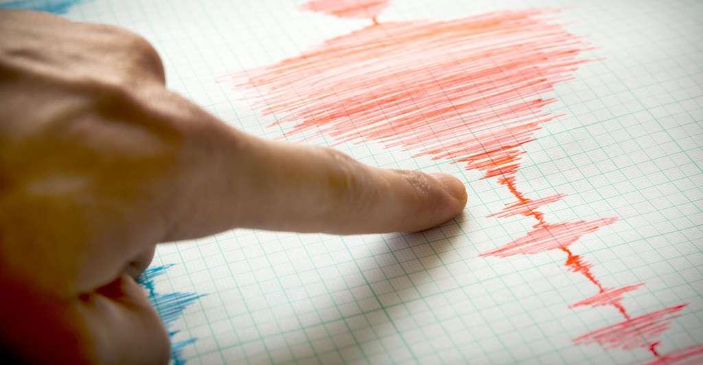 Relevé fait à partir d'un sismographe. © Cylonphoto, Fotolia