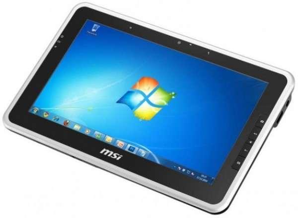 Le WinPad 110W de MSI est une tablette haut de gamme capable de faire tourner Windows 7 et de lire de la vidéo HD sur son écran de 10,1 pouces. © MSI