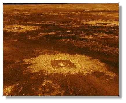 Perspective View of Lavinia Planitia - © Nasa