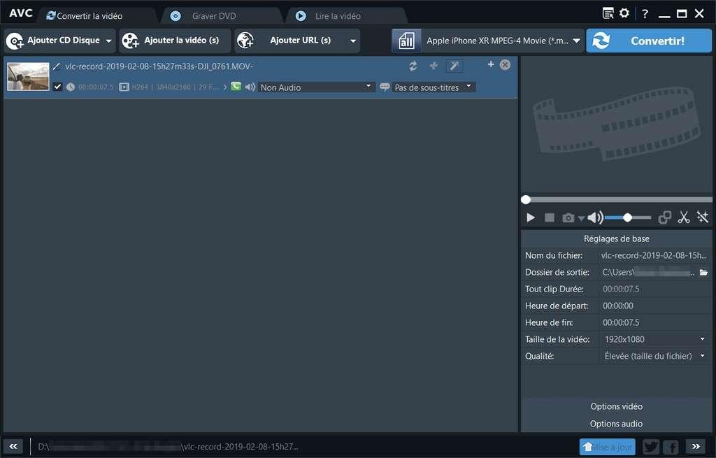 Any Video Converter propose une interface adaptée aux utilisateurs débutants © Anvsoft Inc.