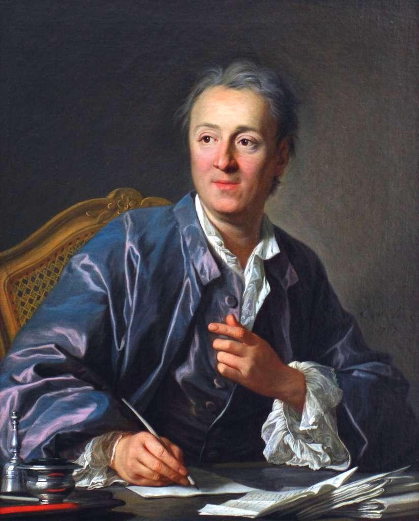 Denis Diderot, cheville ouvrière de L'Encyclopédie dont il rédige plus d'un millier d'articles. © œuvre de Louis-Michel van Loo, Musée du Louvre, DP