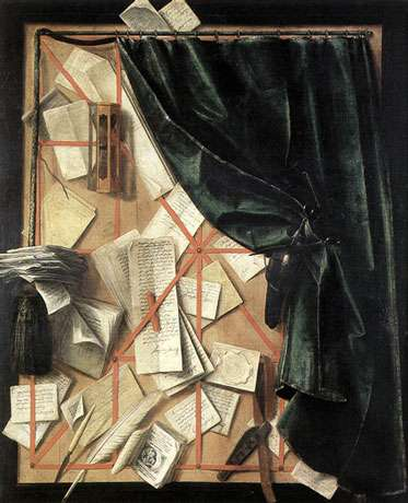 Cornelis Gijbrechts (XVIIe), trompe-l'œil, huile sur toile, Museum voor Schone Kunsten, Ghent. © Reproduction et utilisation interdites