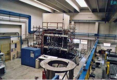 Le bâtiment où se trouve l'expérience PVLAS (Crédit : PVLAS).