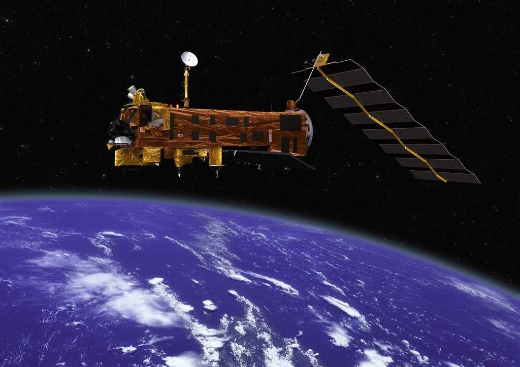 Depuis 1978 et le satellite Toms, les observations par satellite permettent d'obtenir des mesures d'ozone sur l'ensemble du globe terrestre et ce de façon ininterrompue. © Esa
