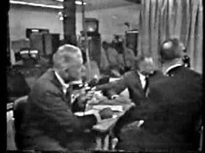 Première image de studio transmise par Telstar le 10 juillet 1963. Crédit Nasa