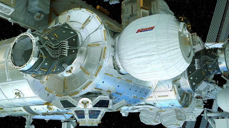 Une fois Beam gonflé, la Station spatiale comptera un module de plus. Pour des raisons de sécurité, il ne sera pas occupé en permanence. © Bigelow Aerospace