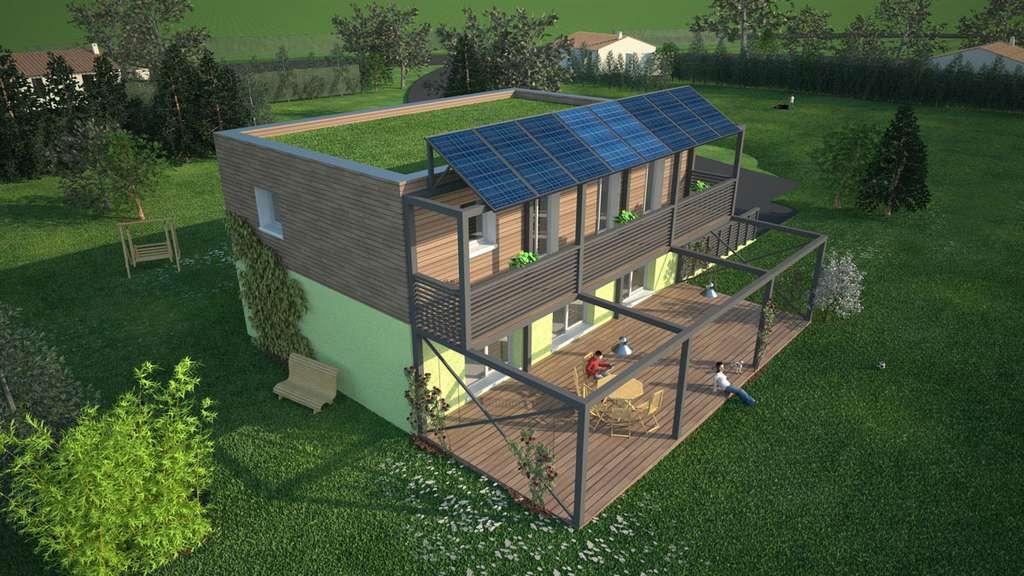Projet médaillé d'argent, catégorie systèmes constructifs, du Challenge des maisons innovantes 2008 organisé par l'UMF. MDF Lorraine du Sud. © Union des maisons françaises