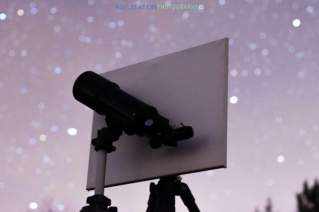 La lumière de Vénus est suffisante pour projeter une ombre. La preuve avec cette photo prise par un astronome amateur le 18 janvier 2020. © Noel Keating, Spaceweather.com