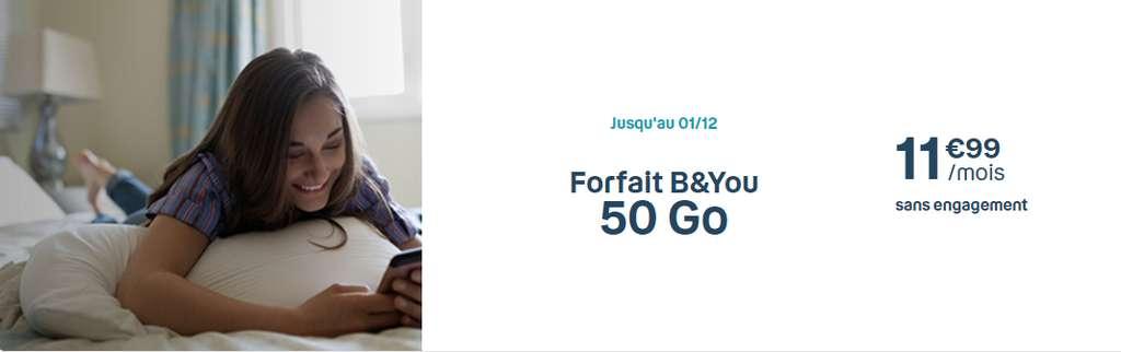 Forfait 50Go à prix cassé © B&You