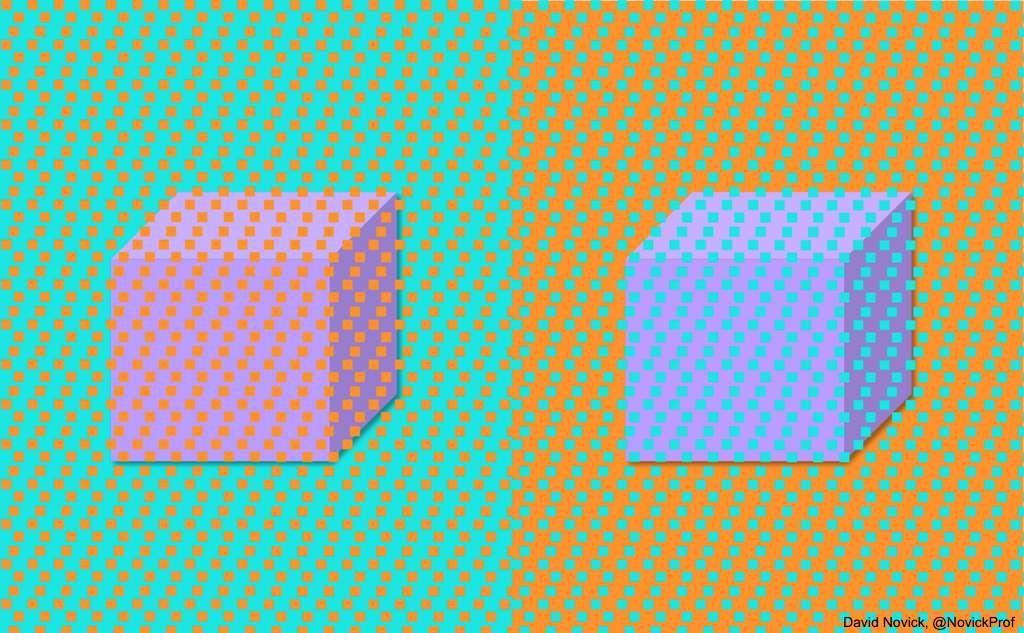 David Novick a recréé l'expérience avec des cubes. © David Novick