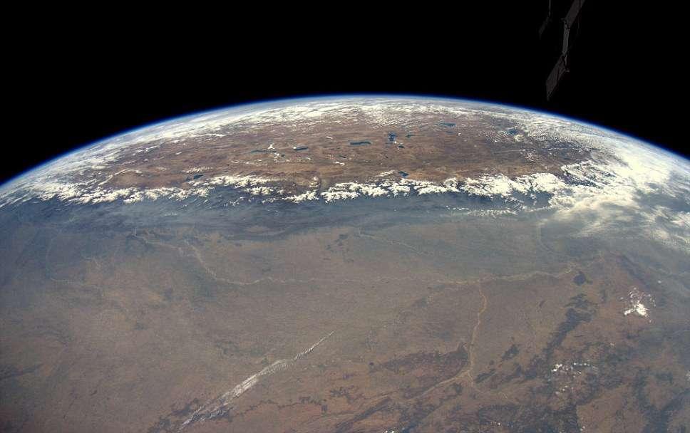 Le plateau himalayen photographié en mai 2012 par André Kuipers, à bord d'ISS, à quelque 400 km d'altitude. © Esa, Nasa