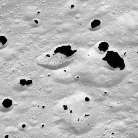 Détail de la face blanche. Crédit : JPL/Nasa