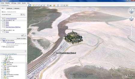 (Cliquer pour agrandir.) L'interface de Google Earth © Google; IGN