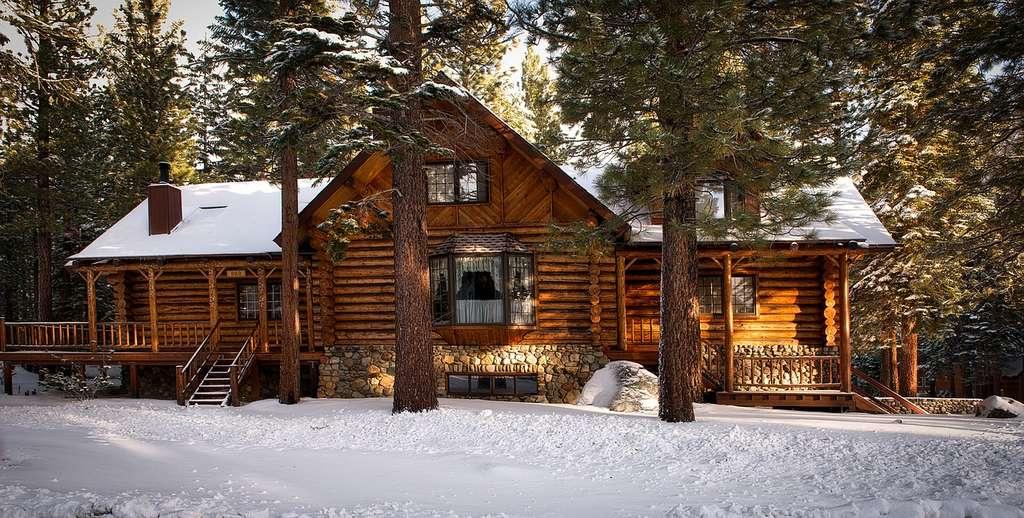 Maison en rondins de bois