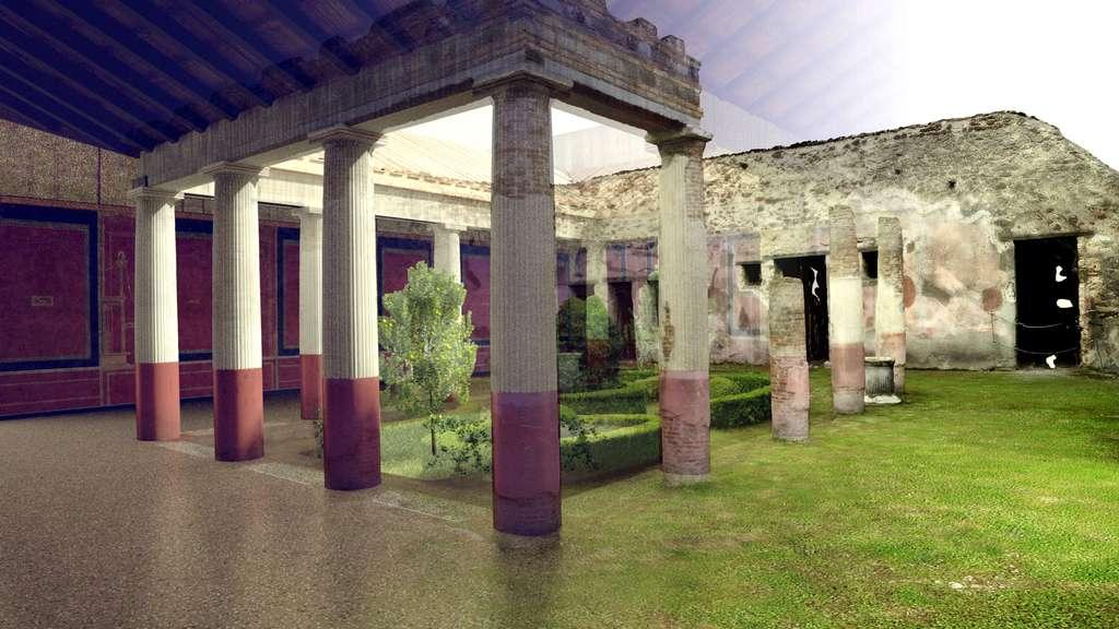 La villa de Diomède virtuellement reconstruite