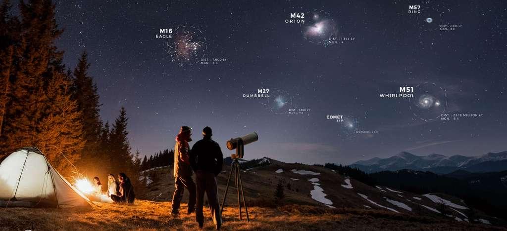 L'eVscope permet de réaliser un Marathon Messier. © 2017-2021, Unistellar, tous droits réservés