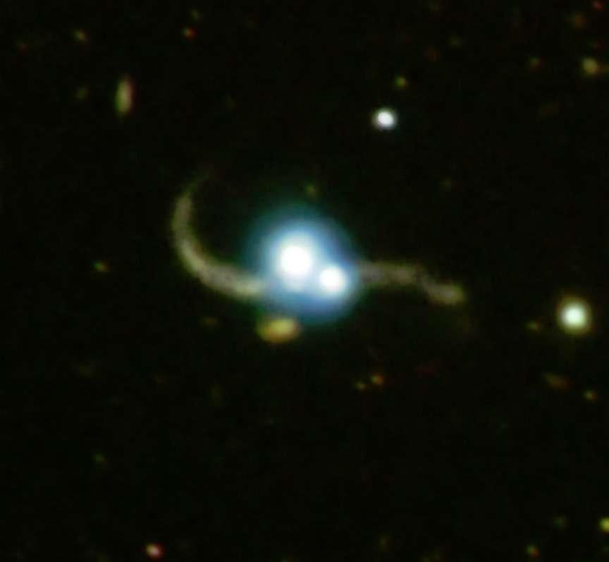 Collision de quasars