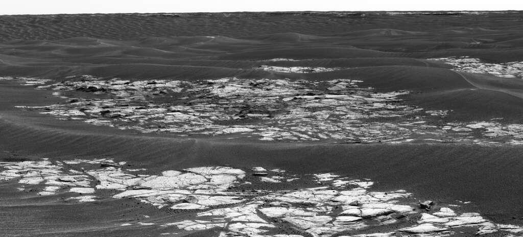 Opportunity approche du cratère Erebus