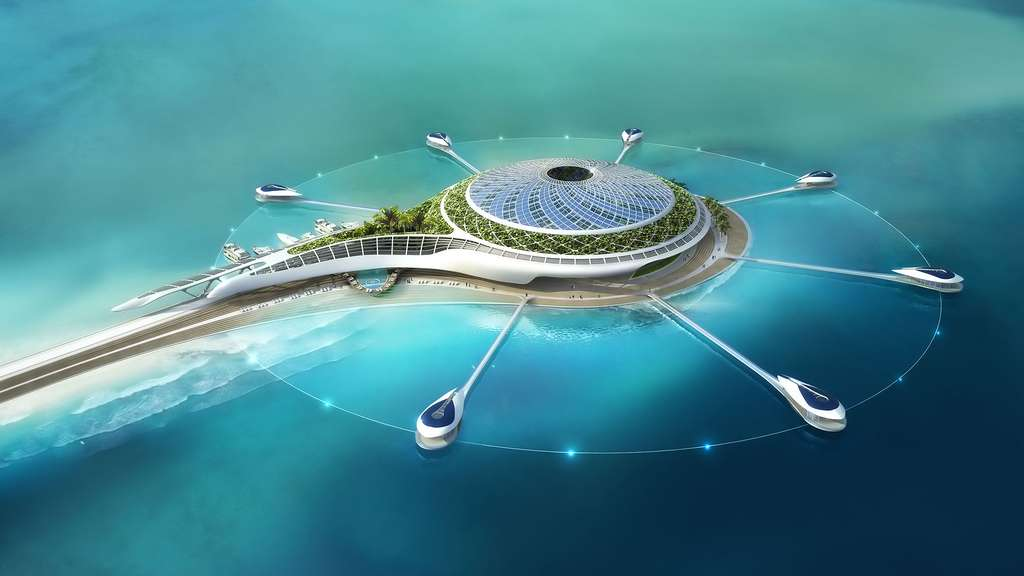 Solar Drop : une fleur en mer d'Oman